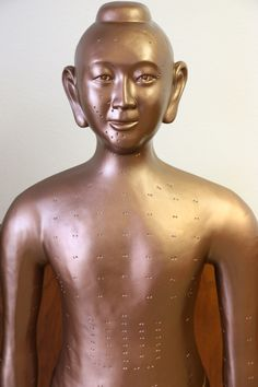 The earliest Acupuncture Statue discovered. Sculpted by Wang Weiyi during the Song Dynasty (960AD-1279AD)