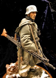 WWII military miniature soldier.