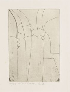 BEN NICHOLSON (10 April 1894 – 6 February 1982). Urbino, 1965