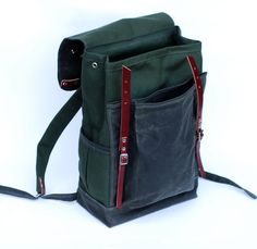 The Rucksack in Olive Waxed Canvas by sketchbook on Etsy, $260.00