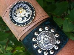 Boho Chic meets Southwestern crystal leather turquoise by dgierat, $28.00