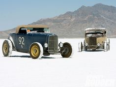 32 Convertible Deuce Coupe at the flats.
