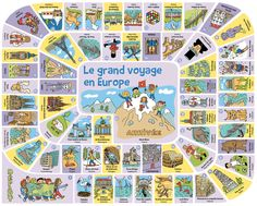 Un tour en Europe – Fred Sochard illustration French Teaching Resources, Teaching French, Teaching Kids, Monstre Du Loch Ness, Europe Wallpaper, Flag Drawing, Printable Board Games, French Classroom, Cycle 3