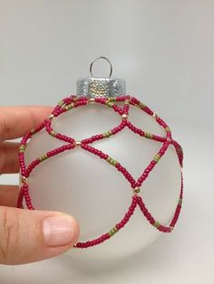I shared this  ornament idea on JTV's Jewel School . I created it in two color combinations. One is based off of the Festival of Ligh...