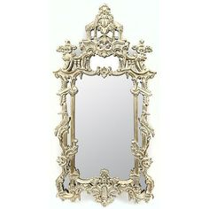 "Tall Mirror Silver Leaf wall Handmade 64"" French Baroque Style New Ships Free"