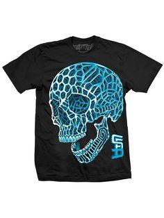 "Men's ""3D Skull"" Tee by Steadfast Brand (Black) #skull #inkedshop #blue #inked"