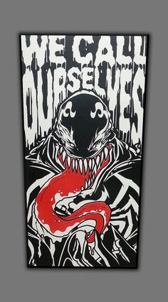 Venom spray painted canvas by CanvasByChris on Etsy