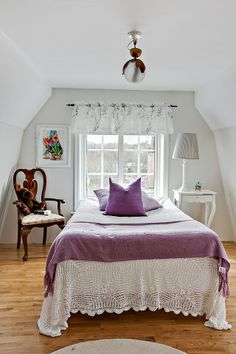 love purple.. Lavender Decor, Lilac, Purple, Cottage, Bed, Furniture, Home Decor, Decoration Home, Stream Bed