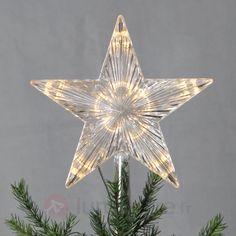 Pointe de sapin LED Topsy étoile mat. synthétique, référence 1523356- Décoration, DIY et lumière de Noël chezLuminaire.fr!