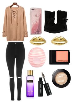 """Sans titre #1467"" by merveille67120 ❤ liked on Polyvore featuring Topshop, UGG, Case-Mate, River Island, Maybelline and Bobbi Brown Cosmetics"