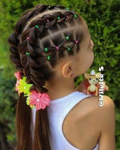 short hairstyles for homecoming Simple updo - short-hair-styles - Girls Hairdos, Lil Girl Hairstyles, Braided Hairstyles, Teenage Hairstyles, Hairstyles For Toddlers, Rubber Band Hairstyles, Curly Hair Styles, Natural Hair Styles, Simple Updo