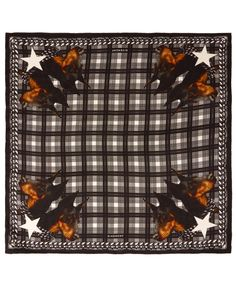 #Givenchy Black Doberman Silk Scarf