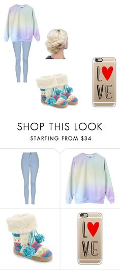 """""""Untitled #27"""" by sparklestache on Polyvore featuring Topshop, Muk Luks and Casetify"""
