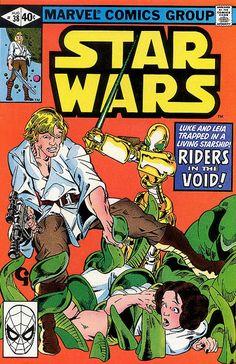 August 1980 Star Wars Marvel Comic Book - Rare & Hard to Find - Vintage Star Wars Comic Books, Marvel Comic Books, Comic Books Art, Book Art, Marvel Comics, Star Wars Comics, Star Wars Luke, Star Wars Art, Clone Wars