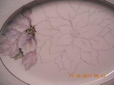 White poinsettia's | ARTchat - Porcelain Art Plus (formerly Chatty Teachers & Artists) June Watson Artist