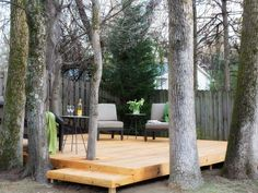 The experts at HGTV.com share simple step-by-step instructions on how to build a deck around existing trees.