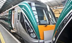 Two new trains in Heuston Station (Dublin)