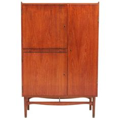 Vintage Teak Cabinet By Finn Juhl, Denmark.   From a unique collection of antique and modern cabinets at http://www.1stdibs.com/furniture/storage-case-pieces/cabinets/