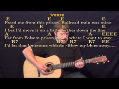 Folsom Prison Blues (Johnny Cash) Strum Guitar Cover Lesson with Chords/Lyrics Guitar Tips, Guitar Songs, Guitar Chords, Acoustic Guitar, Ukulele, Fingerstyle Guitar Lessons, Electric Guitar Lessons, Song Sheet, Sheet Music