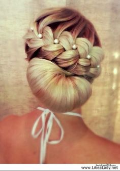 wedding updo without bottom part of bun