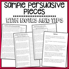 89 best persuasive texts images on pinterest essay writing sample persuasive pieces 3 examples including persuasive spiritdancerdesigns Images