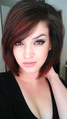 70 Best A-Line Bob Hairstyles Screaming with Class and Style - Wild and Red A-Line Haircut - Bob Haircut For Fine Hair, Haircut And Color, A Line Haircut Short, Ling Bob Haircut, A Line Bob With Bangs, Popular Haircuts, Latest Haircuts, Trendy Haircuts, Great Hair