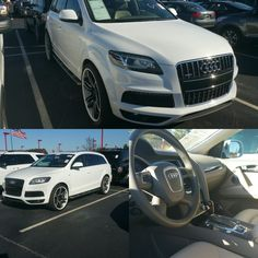 Audi Q7 Quattro 4.2L 'Prestige'  $23,500  1 OWNER, Navigation, Rear Cam, Sunroof, Dual Zone A/C, Beige Leather Seats. FINANCING AVAILABLE. QUALIFIED BUYERS WELCOME. $2,000 DOWN.... ASK FOR PERRY  (470) 819-6744  #audi #financing #sales #carsales #preowned #usedcarsforsale #usedcars #networking #marketing #carsforsale   perry-platinumluxuryautos.com Audi Q7 Quattro, Leather Seats, It Network, The Prestige, Used Cars, Cars For Sale, Beige, Marketing, Vehicles