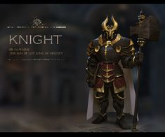 ArtStation - A knight design(male), Rui Li