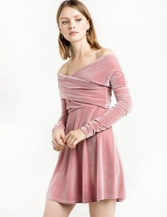 Blush velvet dress - perfect for holiday parties!