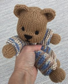 "These sweet Little Loveys (Set 1) are knit in the round, using Magic Loop or double pointed needles, and are knit from top to bottom, as one piece. Ears and tails are knit separately and added later. Only the head, ""hands"" and ""feet"" are stuffed. The body, ""arms"" and legs are NOT stuffed. The body, ""arms"" and legs are knit in Garter Stitch. The head, ""hands"" and ""feet"" are knit in Stockinette Stitch. Approx. 9"" tall (without the ears), they are worked in worsted wt. (Aran/10-ply) yarn, u..."