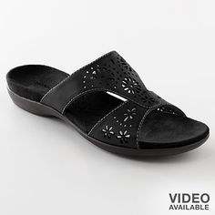 Oh so comfortable! Croft and Barrow  Black Sandals
