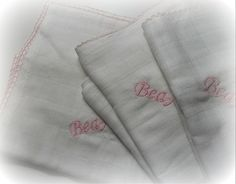Embroided with the baby's name