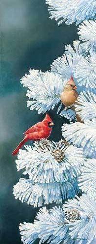 Susan Bourdet Winter Perch - Cardinals | eBay
