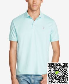 Polo Ralph Lauren Men\u0027s Classic-Fit Soft Touch Polo Cyan