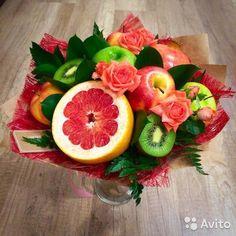 Картинки по запросу съедобный букет из фруктов и сладостей