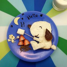 Cream Cheese Snoopy for breakfast