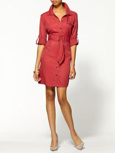 Shirt Dresses: From Work to Play. Hard to find one that fits me on top and bottom, sadly...