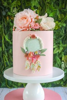 This Dream Catcher Cake Fake cake prop cake party decor is just one of the custom, handmade pieces you'll find in our backdrops & props shops. Cute Cakes, Pretty Cakes, Beautiful Cakes, Fondant Cakes, Cupcake Cakes, Wedding Cake Toppers, Wedding Cakes, Dream Catcher Cake, Bolo Floral