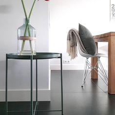 De GLADOM salontafel met dienblad bij @rllr40 | #IKEABijMijThuis IKEA IKEAnederland bijzettafel tafel afneembaar dienblad metaal groen donkergroen
