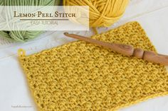 How To: Crochet The Lemon Peel Stitch - Easy Tutorial