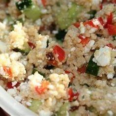 "Couscous and Cucumber Salad | ""I LOVE THIS RECIPE! It is light and refreshing."""