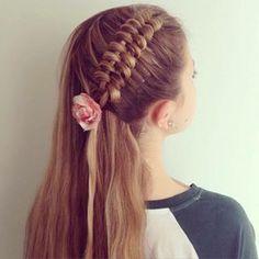 Figure eight braid hairstyle