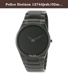 Police Horizon 12744jrsb/02m 40 Black Steel Bracelet & Case Mineral Men's Quartz Watch. THANK YOU FOR CHOOSING AN F.STEEN TIMEPIECE Designed by French Canadians, F. Steen watches are aesthetically sharp and mechanically precise. Crafted with attention to detail, using high quality materials, the watches are both comfortable and classic. Wear or gift with pride. All our mens and womens fasion watches are made of genuine leather bands meant for trendy and stylish eager to stand out among…