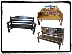 mexican wood benches
