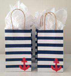 Nautical favor bag by madebykrizia on etsy deco marinero sailor party, naut Fiesta Baby Shower, Baby Shower Party Favors, Baby Shower Parties, Baby Shower Themes, Baby Boy Shower, Sailor Baby Showers, Sailor Party, Sailor Theme, Nautical Favors