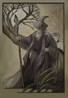 Gandalf by juliedillon Hobbit Art, O Hobbit, Fellowship Of The Ring, Lord Of The Rings, Badass Drawings, Character Sketches, Jrr Tolkien, Viking Age, Middle Earth