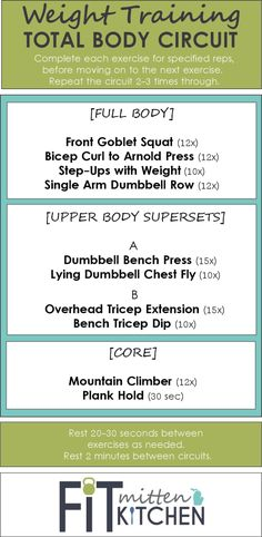[WEIGHT TRAINING] Total Body Circuit