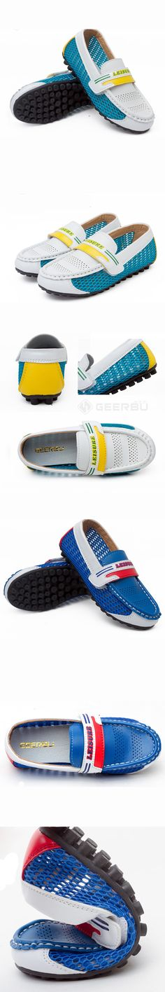 Kids Flat Breathable Shoes Boys&Girls Patchwork Mesh Casual Flats Spring Summer Size 26-35 Kids Shoes Chaussure Enfant Garcon $24.99