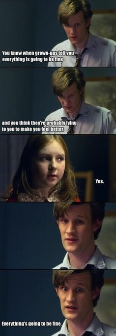 This was the point at which I knew I would be obsessed with Doctor Who. That line right there. I LOVE MATT SMITH