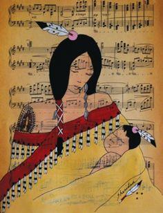 Mother and Child    Sheridan MacKnight (Ojibwe/Lakota)